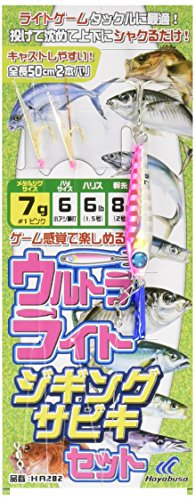 ハヤブサ(Hayabusa)  堤防ウルトラライトジギングサビキセット 2本 の商品画像