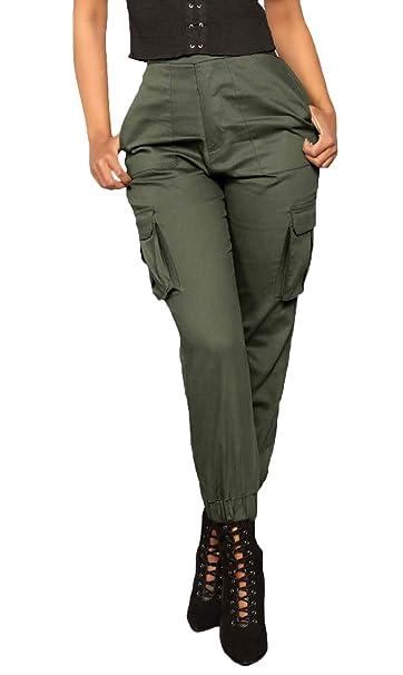 sito affidabile eca39 dacc5 Donna Pantaloni Cargo Eleganti Moda Retro Tempo Libero ...