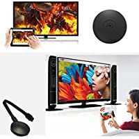 WIFI Display Dongle, 1080P Mini Chromecast Miracast Wireless HDMI Receiver - Supports DLNA/Airplay/Airmirror/Miracast, Multi-Screen Interactive Wi-Fi Display for IOS/Android/Windows/Mac, Black