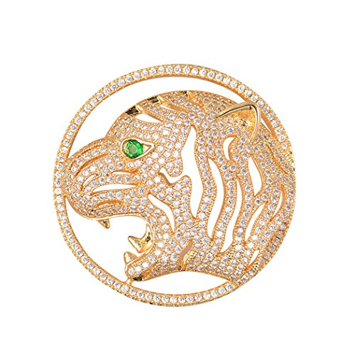 Romantic Time Big Leopard Tiger For DYI Pendant Necklace Crystal Rhinestone Cubic Zirconia Jewelry