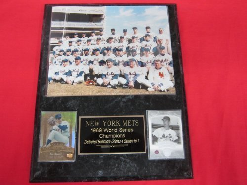 1969 Mets World Series Champions 2 Card Collector Plaque #2 w/8x10 Color (1969 New York Mets Baseball)