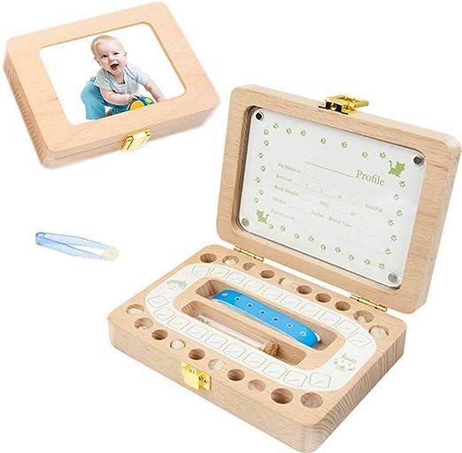 First Tooth & Curl - Caja de Madera para Recuerdos de bebé (con ...