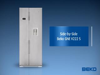 Amerikanischer Kühlschrank Beko : Beko gne v222 s side by side a no frost 0°c zone 468 kwh