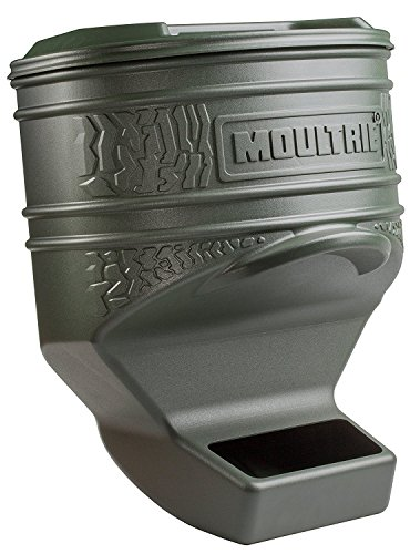 Deer Feeder Corn (Moultrie Feed Station Pro | Gravity Feeder | UV-Resistant Plastic | 80 lb. Capacity | Weeping Holes | Straps Included)