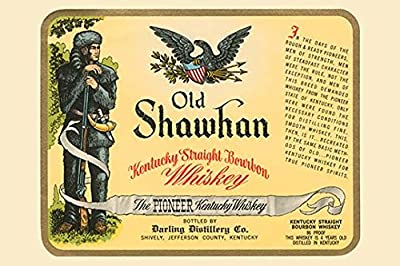 Buyenlarge 'Old Shawhan Kentucky Straight Bourbon Whiskey' Paper Poster, 20 by 30-Inch