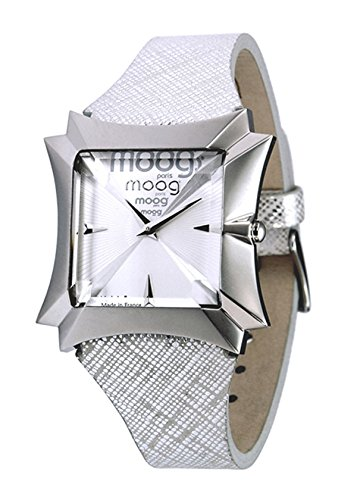 Moog Paris Vendôme Women's Watch with Silver Dial, Silver Strap in Genuine Leather - M45402-003