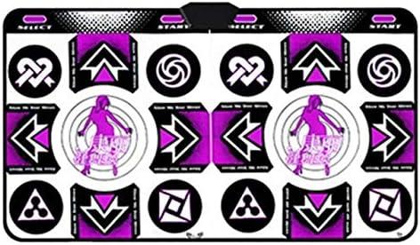 ダンスマットダンス毛布シングル/ダブルプレーヤーテレビインタフェースコンピュータデュアルユース体性感覚ゲーム電子ミュージカルダンスパッドを移動します ダブル子供用ダンスブランケット (Color : Double Purple)