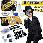 UNGLINGA Spy Kit for Kids Detective Outfit Fingerprint Investigation Role Play Dress Up Educational Science ST