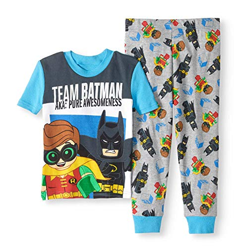 LEGO Batman 'Team Batman' Glow in The Dark 2 Piece Pajama Set -