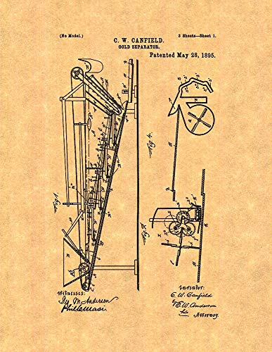 51BtuQkGoiL amazon com gold separator patent print old look (24\