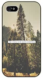 God, let me live the life you have planned for me - Bible verse iPhone 4 / 4s black plastic case / Christian Verses