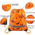 Halloween-Treat-Bags-Drawstring-Backpack for Candy 10 Pack, Halloween Goody Bags for Party Gifts