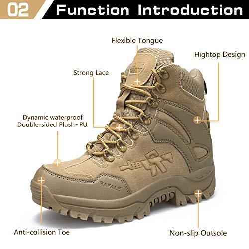 Armee Stiefel Maenner Tactical Herren Wanderschuhe Boots Damen Braun01 Combat Outdoor Frauen Trekkingschuhe Rutschfeste Für Einsatzstiefel Verschleißfest IqpOInArw