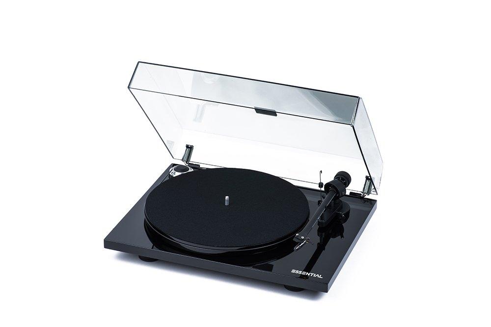 Pro-Ject Plattenspieler Essential III Schwarz Piano (OM 10 ...
