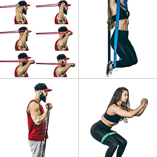 Pull Up Assist Band, Premium Stretch Resistance Bands - Mobility Bands - Powerlifting Bands - Extra Durable and Heavy Duty Pull-Up Bands - Works with Any Pullup Station (#4 Green - 50 to 125 lb) by Iron Bull Strength (Image #6)
