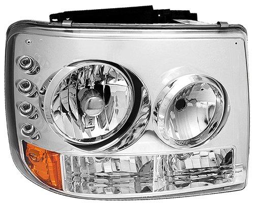 IPCW CWS-3039VC Silverado//Suburban//Tahoe Chrome Diamond Cut Head Lamp with Bumper Lights