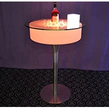 GOWE Remote control Modern Plastic bar pub illuminated led cocktail coffee bar table rechargeable colorful led Table basse lumineuse