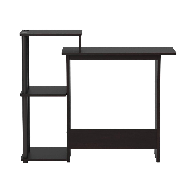 French Oak Gray//Black FURINNO 11181GYW//BK Computer Desk