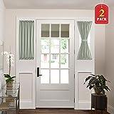 H.VERSAILTEX Patio Door Curtain Panels Window Treatment Room Darkening French Door Curtains Window Curtain 2 Panels (25'' Wide x 40'' Long, Sage)