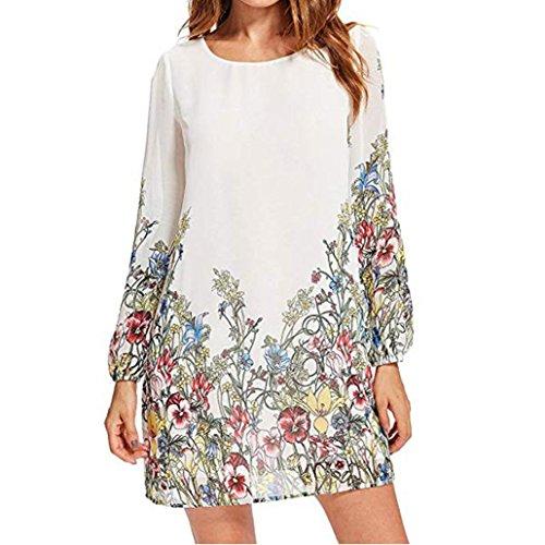 UONQD Woman blouse black design white blouses for women ladies online shirt womens tie neck floral dress silk high satin leopard print cream chiffon long sleeve (X-Large,White)