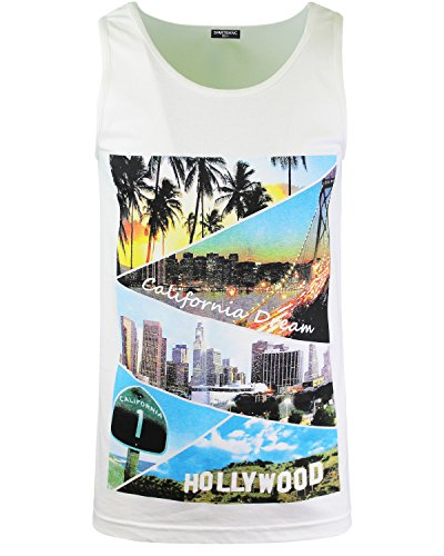 ShirtBANC White California Dream Mens Tank Top Shirt L