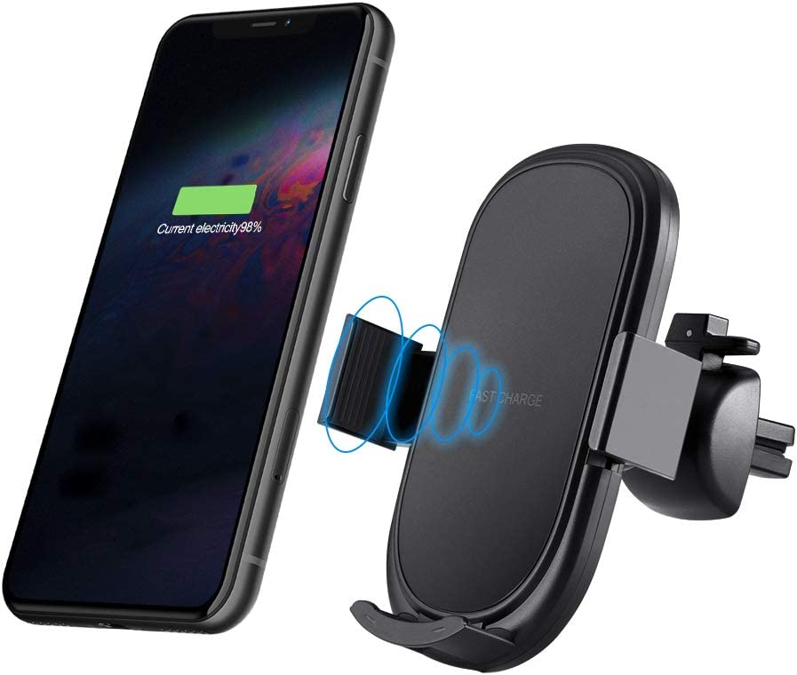 7.5W Wireless Fast Charging Car Mount Compatible with iPhone XS//MAX//X//XR//8//8 Plus,Samsung Note 5//7//8//9//FE Galaxy S8//8+// 10+ Reakosound Wireless Car Charger Universal Adjustable 10W