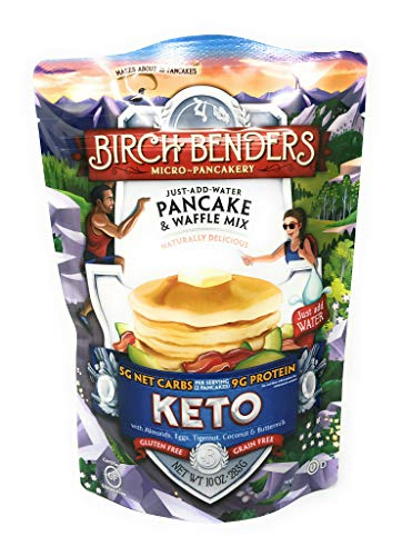Birch Benders Griddle Cakes, Pancake Waffle Mix Keto, 10 Ounce by Birch Benders Griddle Cakes (Image #1)