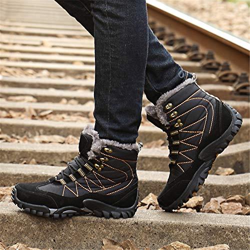 Femme Chaussures Randonnée Trekking Bottes Fourrure Chaud Boots Haut Neige Homme Outdoor Rond Bas De Hiver Tqgold Noir Sneakers Plate YwpqXIq