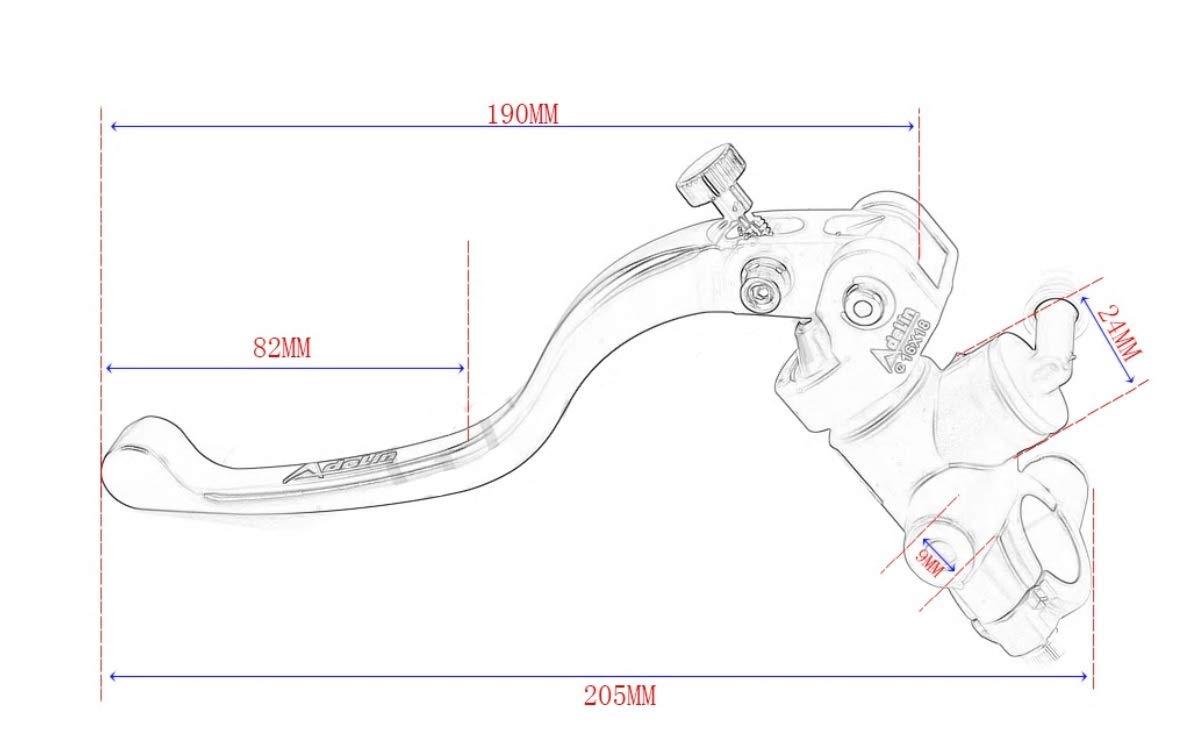 PRE-MOTO4 MOTO 5 Adelin-braking Pompa di freno radiale PITBIKE SUPERMOTO 80 GP 16X18