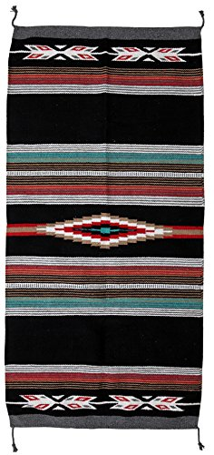 El Paso Designs Beautiful Hand-Woven Serape Area Rugs Featuring Feather Hawkeye Pattern. Three Sizes to Choose From. (HA40FEATHER1) by El Paso Designs