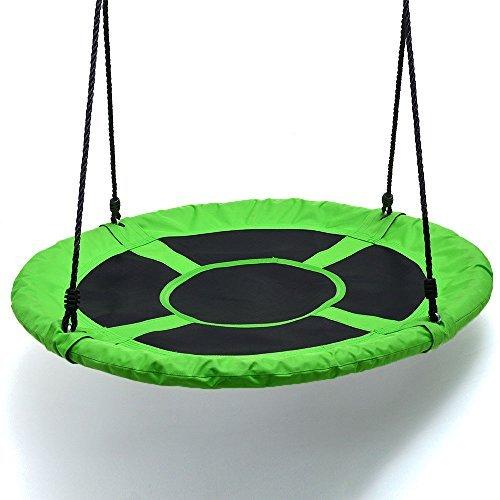 IMAGE Spider Web Swing Tree swing Net Swing Platform Rope swing Nylon Rope detachable 40 inch diameter with carabiners Adjustable hanging ropes