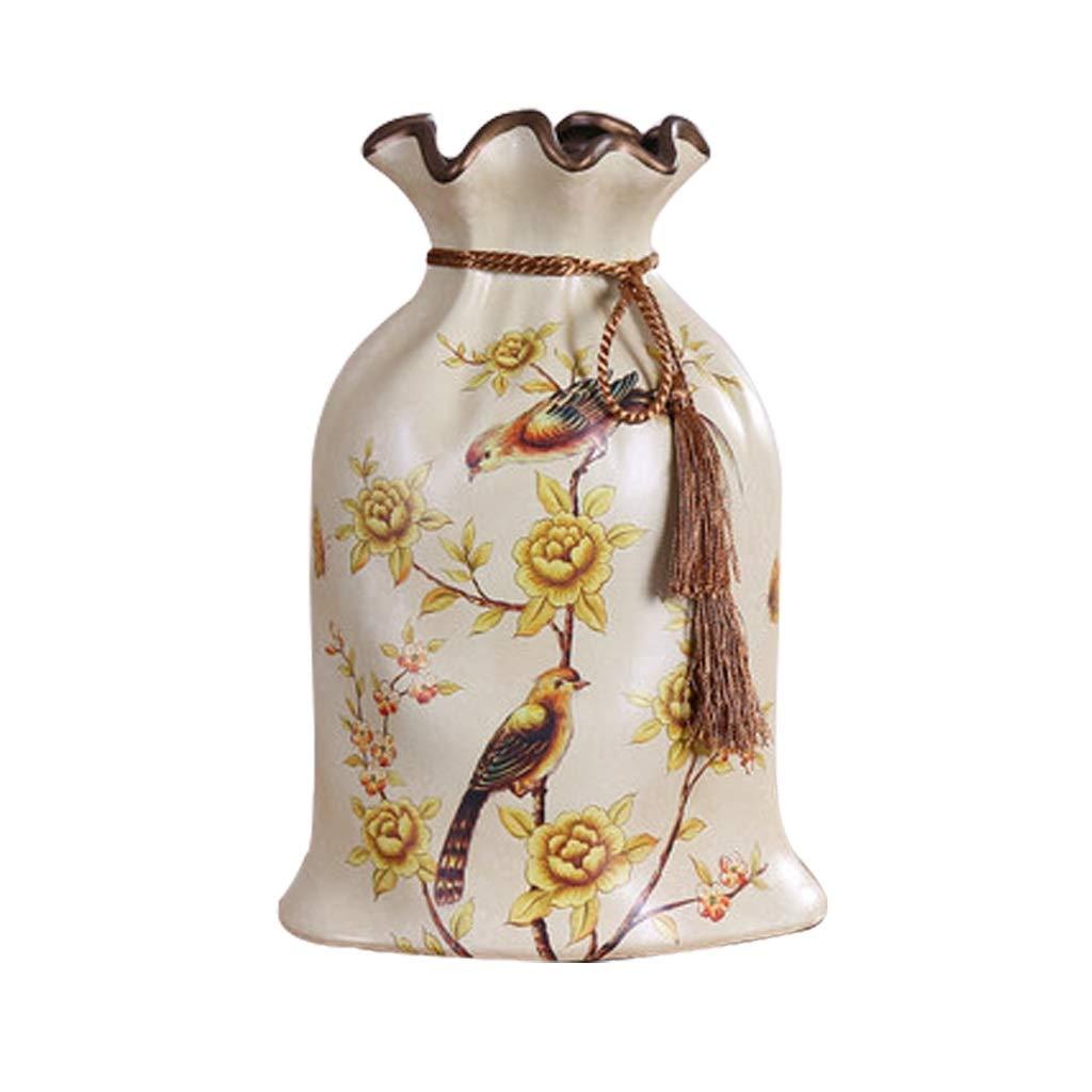 アメリカの牧歌的な国の創造的な袋セラミック花瓶レトロな装飾品 LQX B07R14FPVV