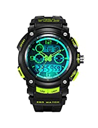 Korean version of the boys watch/Teen Glow/Dual display/Outdoor electronic table/Students watch-B