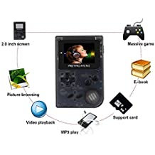 Smart Tech HANDHELD GAME CONSOLES, 2018 BUILT IN 1500+ GAMES | 32 BIT PORTABLE GAME CONSOLES FOR KIDS, 3 INCH HD LCD, (Transparent Black)