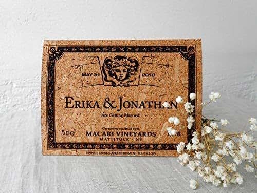 Handmade Rustic Wedding Invitations: Amazon.com: Rustic Cork Wedding Invitation, Wedding