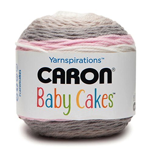 Caron Baby Cakes Self-Striping Yarn ~ 3.5 oz Cakes by The Each (Dreamy Rose) by Caron Yarns
