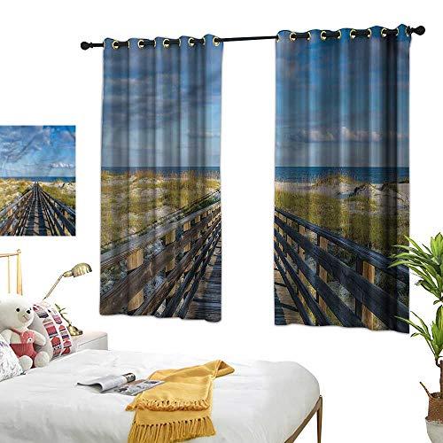 Alabama Sunshade (Warm Family Beach Insulated Sunshade Curtain Alabama Gulf Coast Summer 70%-80% Light Shading, 2 Panels,55