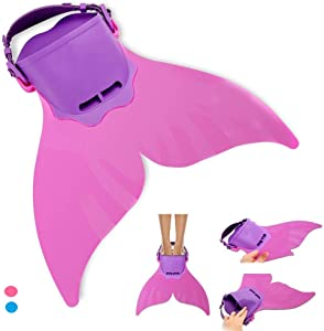 AIWANK Adjustable Mermaid Flippers Swim Fin for Swimming Training Girl,Kids