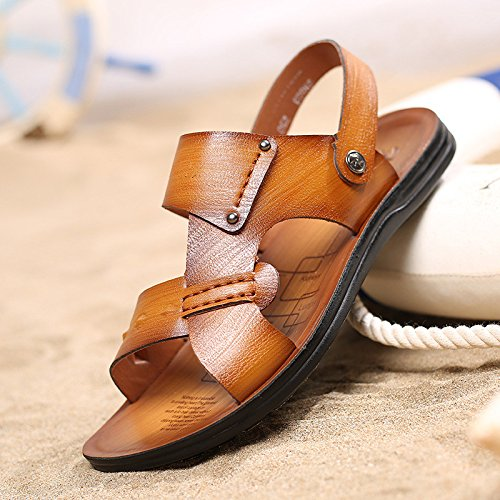Frühling Sommer Das neue Männer Sandalen Mode Strand Männer Schuh Freizeit Sandalen ,Gelb,US=8,UK=7.5,EU=41 1/3,CN=42