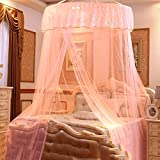 Dome ceiling princess bed canopy, Palace Enlarge Double Oversized mosquito net mosquito-curtain for twin Queen and king size -H King