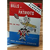 1963 Vintage Buffalo Bills - Boston Patriots Eastern Division Playoff Football Program - Canvas Gallery Wrap - 12 x 16