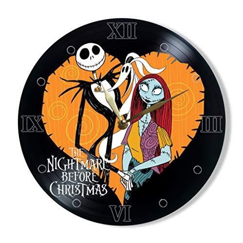 Nightmare Before Christmas Vinyl Clock Painted 12