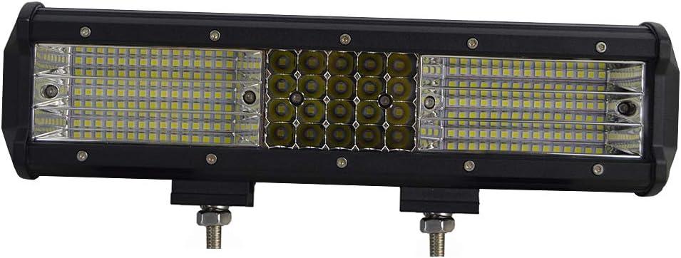 2 St/ück 5 Zoll 135W 9D dreireihig gerade Flutlichtstrahl LED Lichtleiste Fahrarbeit Offroad Lichter Nebelscheinwerfer f/ür LKW ATV UTV SUV SKYWORLD LED Lichtleiste