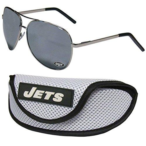 NFL New York Jets Aviator Sunglasses & Sports Case