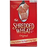 Post Shredded Wheat Original Cereal, Spoon Size, 16.4-Ounce Boxes (Pack of 4)