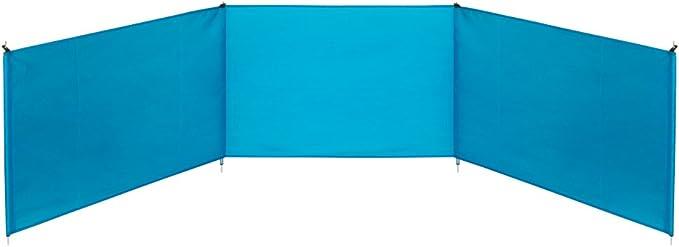 Aktive 53441 Paravientos de playa plegable, Azul, 300 x 75 cm ...