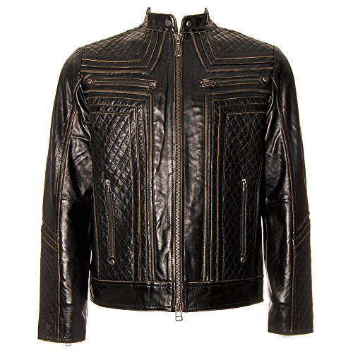 (Affliction Men's American Custom Lemmy Leather Jacket - Black,)