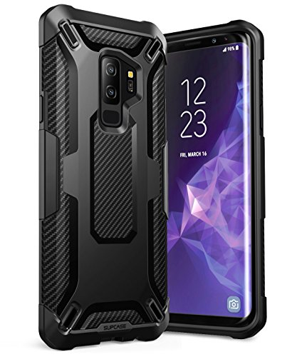 Galaxy S9+ Plus Case, SUPCASE Unicorn Beetle Series Premium Hybrid Protective Clear Case for Samsung Galaxy S9+ Plus 2018 Release, Retail Package (TPU/Black)
