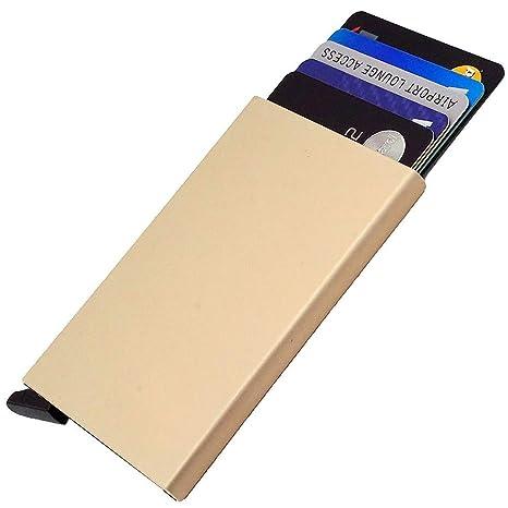 Dlife Ultra Delgada Carteras de Aluminio Cartera,Tarjeteros para Tarjetas De Crédito RFID,Cartera
