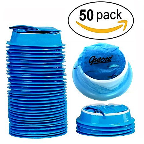 50 Pack Emesis Bag, Disposable Vomit Bags, Aircraft & Car Sickness Bag, Nausea Bags For Travel Motion Sickness by Guiote